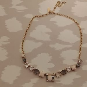 Kate spade statement necklace light pink, clear st